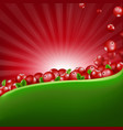 red cranberry border with sunburst vector image vector image