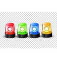 red green blue and yellow flashing police beacon vector image