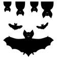 set bats halloween vector image