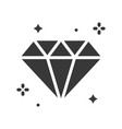 shiny diamond icon with glitter vector image