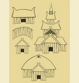 some vikings buildings vector image