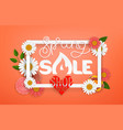 spring sale concept lettering shopping banner vector image vector image