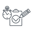 test line icon vector image
