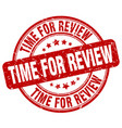 time for review stamp vector image