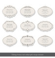 Vintage oval frames and labels set vector image vector image
