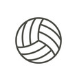 volleyball ball icon line beach game symbo vector image vector image