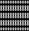 w railway track rail road silhouette vector image