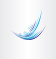 water element wave vector image vector image