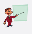 white businessman points out angry with a pointer vector image vector image