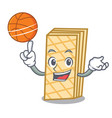 with basketball waffle character cartoon style vector image