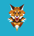 Wolf head polygon geometric vector image vector image