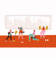 workout in gym hand drawn vector image