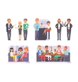 Group of friends enjoying evening drinks in bar vector image
