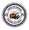 time to travel vacation emblem vector image