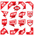new stickers modern labels and corner red vector image