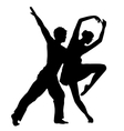 pair dancing isolated on white background vector image