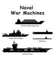 1338 naval war machines vector image