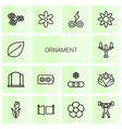 14 ornament icons vector image vector image