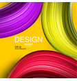 abstract background colorful curve imag vector image vector image