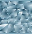 abstract polygonal square background silver blue vector image vector image
