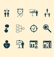 administration icons set collection co-working vector image vector image