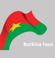 background with burkina faso wavy flag vector image
