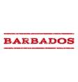 Barbados Watermark Stamp vector image vector image