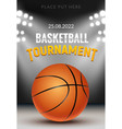 basketball tournament background vector image vector image