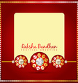 beautiful rakhi background vector image vector image