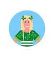 blonde woman christmas elf santa helper concept vector image vector image