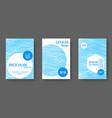 brochure layout design templates vector image