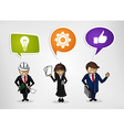 Business teamwork cartoon people