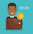 businessman with bitcoin business vector image