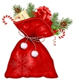 Christmas sack with presents vector image