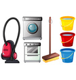 cleaning products vector image vector image