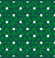 clover trefoil green leaf seamless dotted vector image vector image