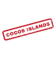 Cocos Islands Rubber Stamp vector image vector image