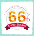 colorful polygonal anniversary logo 3 066 vector image vector image