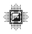 computer cpu object or design element vector image