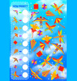 counting game for kids template with kites vector image