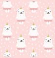Cute seamless pattern with white baby bear