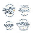 Denim typography t-shirt design set vector image vector image