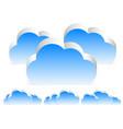 different 3d cloud compositions w transparent vector image vector image