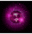 disco ball pink party background ai vector image