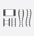 film strip 35mm frames format blank cinema vector image