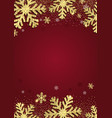 glittery gold christmas snowflake background vector image vector image