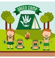 green camp vector image vector image