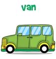 green van cartoon vector image