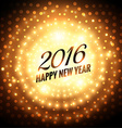 happy new year 2016 glowing greeting vector image