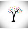 heart tree vector image